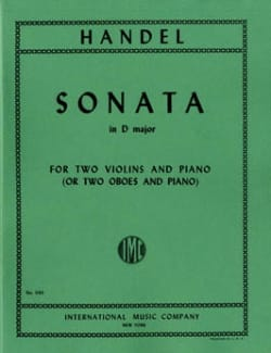 Sonata in D major - 2 Violins piano - HAENDEL - laflutedepan.com