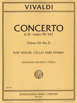 Antonio Vivaldi - Concerto Bb major RV 547 – Violin cello piano - Partition - di-arezzo.fr