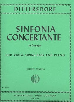 Carl Ditters Von Dittersdorf - Sinfonia Concertante D Major - Sheet Music - di-arezzo.co.uk