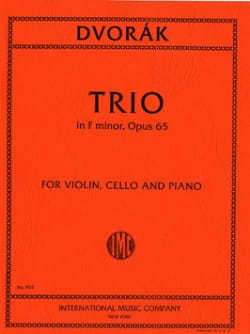 Trio F minor op. 65 - Parts - Antonin Dvorak - laflutedepan.com