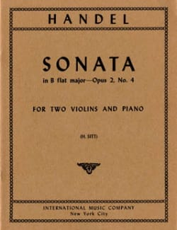 Sonata B flat major op. 2 n° 4 -Parts - HAENDEL - laflutedepan.com