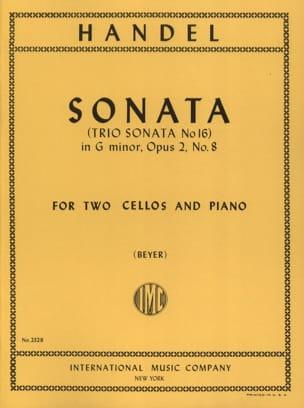 Sonata sol mineur op. 2/8 HAENDEL Partition Trios - laflutedepan