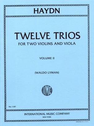HAYDN - 12 Trios - Volume 2 -2 Violins Viola - Partition - di-arezzo.fr