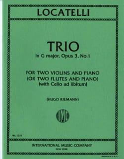 Trio G major op. 3 n° 1 -Parts Pietro Antonio Locatelli laflutedepan