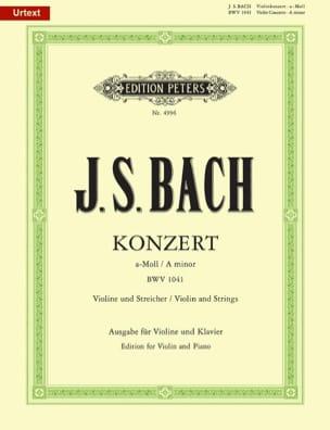 BACH - Konzert a-moll BWV 1041 - Violon - Partition - di-arezzo.fr