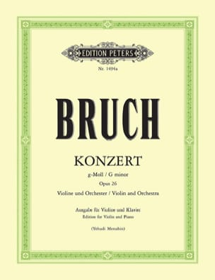 Max Bruch - Concerto No. 1 Op. 26 Sol Minor - Partition - di-arezzo.co.uk