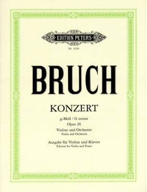 Max Bruch - Violin Concerto in G Minor No. 1 Op.26 - Sheet Music - di-arezzo.co.uk
