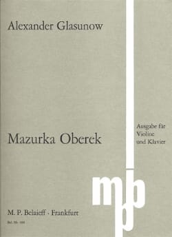 Mazurka Oberek Alexandre Glazounov Partition Violon - laflutedepan