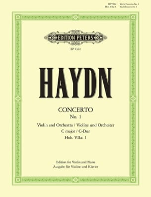 Concerto Violon ut majeur Hob. 7a : 1 HAYDN Partition laflutedepan