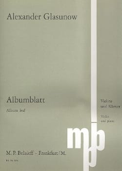 Alexandre Glazounov - Albumblatt - Noten - di-arezzo.de