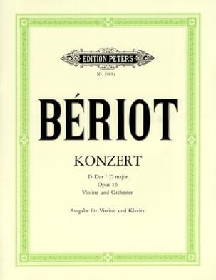 BÉRIOT - Konzert N° 1 Op. 16 D-Dur - Partition - di-arezzo.fr