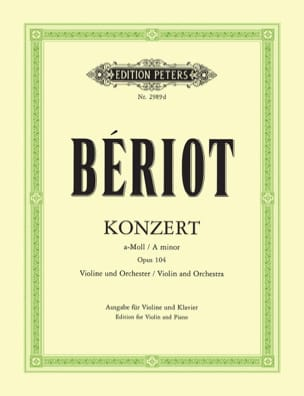BÉRIOT - Concerto in A minor, op. 104 n ° 9 - Sheet Music - di-arezzo.co.uk