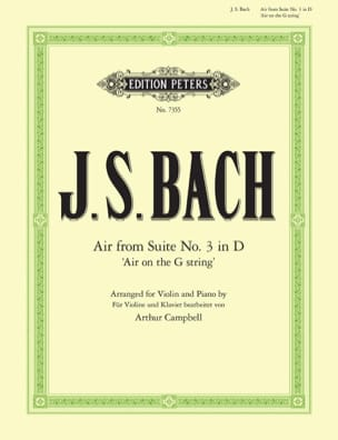 BACH - Air from Suite # 3 in D - Sheet Music - di-arezzo.co.uk