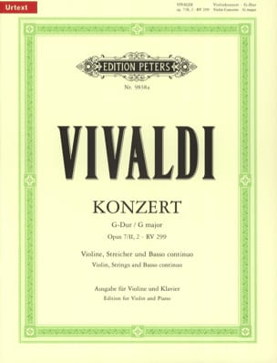 VIVALDI - Concerto G Major, op. 7/2 n ° 2 - RV 299 / P102 - Sheet Music - di-arezzo.co.uk