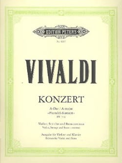 Antonio Vivaldi - Concerto Violon en la majeur (Pisendel-Concerto) - Partition - di-arezzo.fr