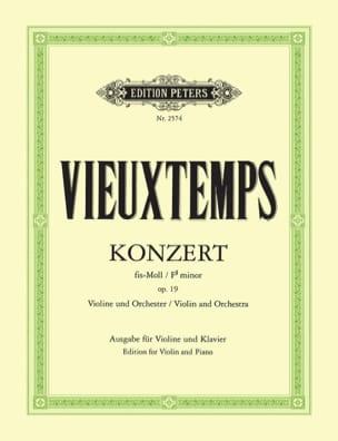 Henri Vieuxtemps - Concerto Violon n° 2 fa dièse mineur op. 19 - Partition - di-arezzo.fr