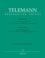 TELEMANN - 3 Konzerte für Violine - Partition - di-arezzo.co.uk