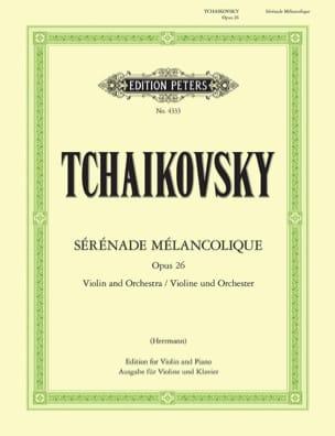 Sérénade mélancolique op. 26 TCHAIKOVSKY Partition laflutedepan