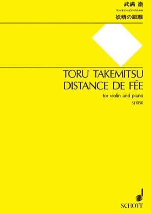 Distance de Fée TAKEMITSU Partition Violon - laflutedepan