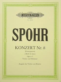Concerto Violon n° 8 la mineur op. 47 SPOHR Partition laflutedepan