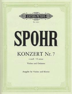 Louis Spohr - Concerto Violon n° 7 mi mineur op. 38 - Partition - di-arezzo.fr