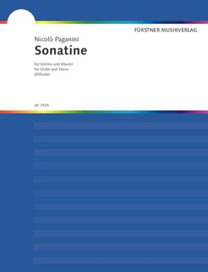 Sonatine - Niccolò Paganini - Partition - Violon - laflutedepan.com
