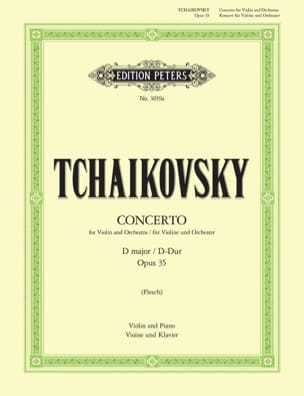 TCHAIKOVSKY - Violin Concerto D major op. 35 Flesch - Sheet Music - di-arezzo.co.uk