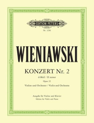WIENIAWSKI - Concerto No. 2 D minor op. 22 - Violin - Sheet Music - di-arezzo.com