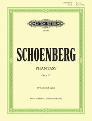 Arnold Schoenberg - Phantasy op. 47 - Partition - di-arezzo.fr