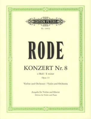 Pierre Rode - Konzert No. 8 e-Moll op. 13 - Sheet Music - di-arezzo.com