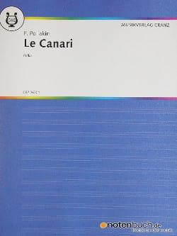 Le Canari F. Poliakin Partition Violon - laflutedepan