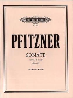 Sonate e-moll op. 27 - Hans Pfitzner - Partition - laflutedepan.com