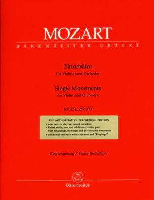 MOZART - バイオリンKV 261,269,373のためのEinzelstzeze - 楽譜 - di-arezzo.jp