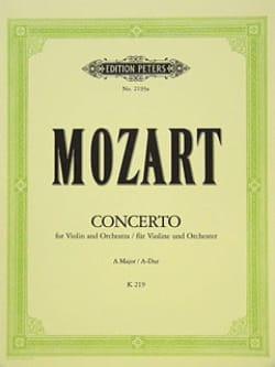 Concerto Violon n° 5 la majeur KV 219 MOZART Partition laflutedepan