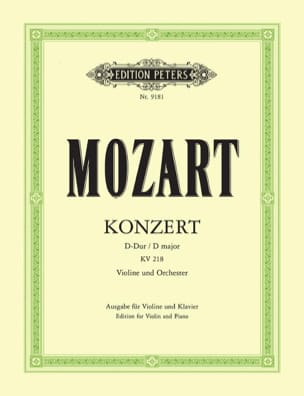 MOZART - Concerto per violino n. 4 D Major KV 218 - Partitura - di-arezzo.it