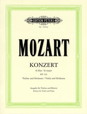 MOZART - Violin Concerto G major KV 216 Oistrach - Sheet Music - di-arezzo.com