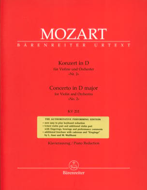 MOZART - Concerto per violino n. 2 D Major KV 211 - Partitura - di-arezzo.it