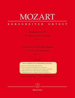 MOZART - Violin Concerto No. 1 B flat major KV 207 - Sheet Music - di-arezzo.com