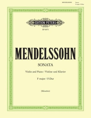 MENDELSSOHN - Sonata in F major - Sheet Music - di-arezzo.co.uk
