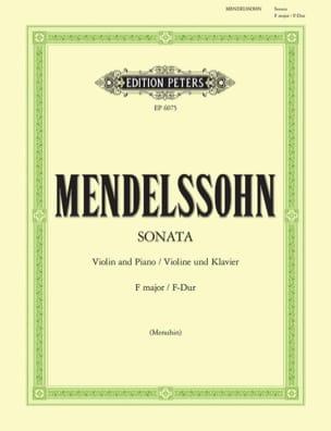 Sonate en Fa majeur MENDELSSOHN Partition Violon - laflutedepan