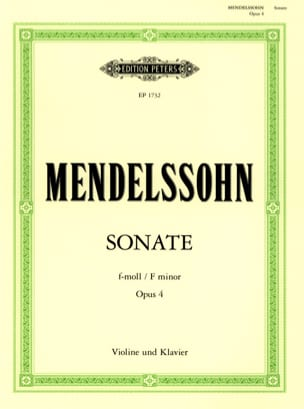 MENDELSSOHN - Sonata f minor op. 4 - Sheet Music - di-arezzo.com