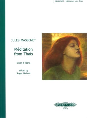 Jules Massenet - Méditation from Thaïs - Violin - Partition - di-arezzo.fr