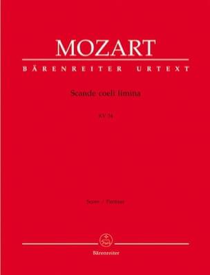 Wolfgang Amadeus Mozart - Scande coeli limina KV 34 – Partitur - Partition - di-arezzo.fr