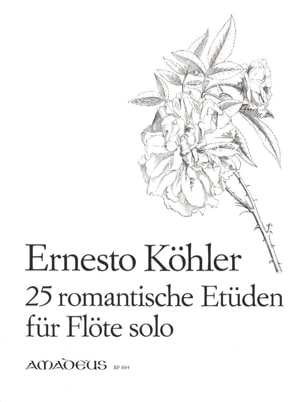 25 Romantische Etüden op. 66 Ernesto KÖHLER Partition laflutedepan