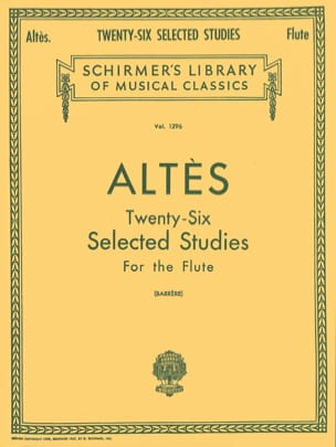 26 Selected Studies - Flute Henry Altès Partition laflutedepan