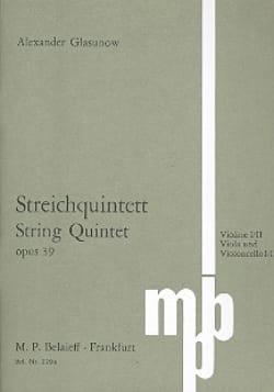 Streichquintett op. 39 - Partitur Alexandre Glazounov laflutedepan