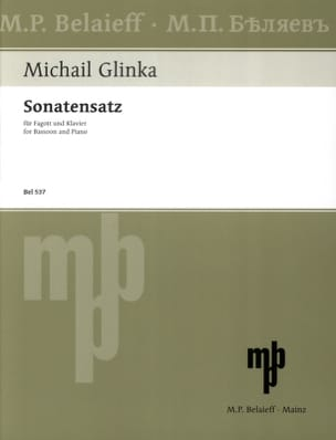 Michail Glinka - Sonatensatz in minor SOL - Sheet Music - di-arezzo.com