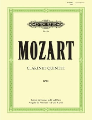 Wolfgang Amadeus Mozart - Clarinet Quintet KV 581 - Clarinet in Bb piano - Sheet Music - di-arezzo.co.uk