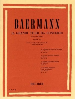 Carl Baermann - 16グランディ・スタディ・ダ協奏曲64 - 楽譜 - di-arezzo.jp