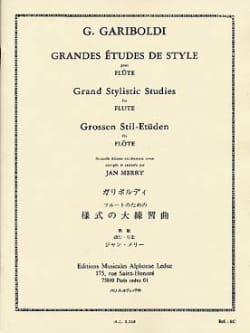 Grandes études de style op. 134 - laflutedepan.com